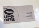 Tom's Lemon Coffee business card