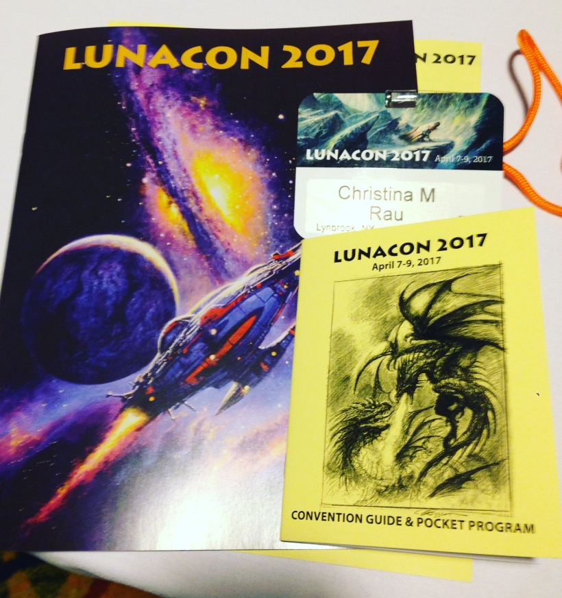 Lunacon Badge and Schedule