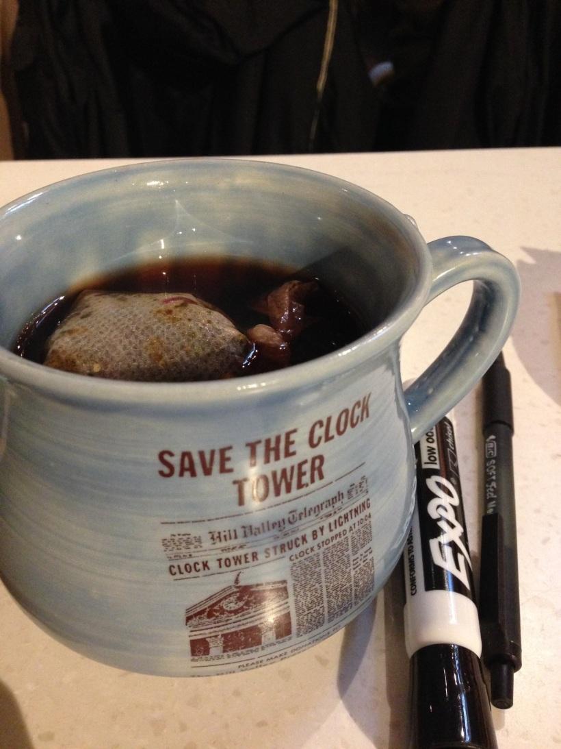 Tea steeping in a mug