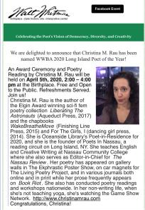 Poet of the Year Announcement